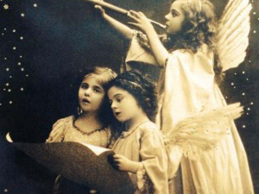 Angels singing. black & white / sepia